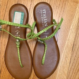 Italian shoe makers sandals size9